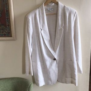 Linen look vintage blazer